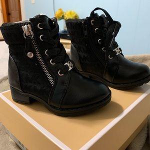 Michael Kors black boots. Toddler size 8